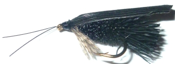 Deer  hair caddis - Black /DR 36