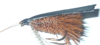 Deer  hair caddis -Brown /DR 35