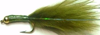 Damsel nymph -  Olive stalker / DAM 24