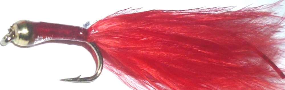Bloodworm,marabou-red- goldhead