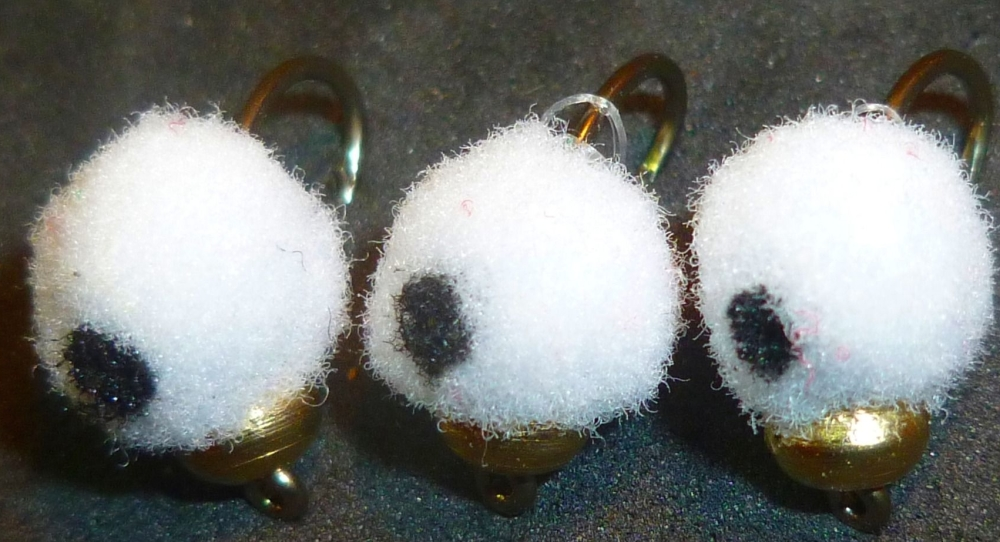 Egg Fly - White, Black Eyed ,Gold head weighted /E13