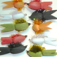 Floating fry,  10 xTrout flies , assorted patterns