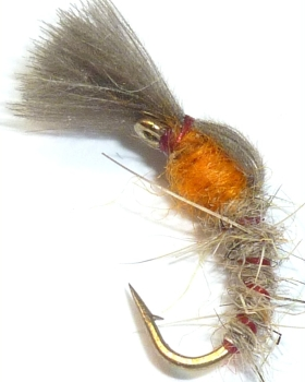 Buzzer / cdc shuttlecock / Hares ear Orange thorax # 14 /cdc12