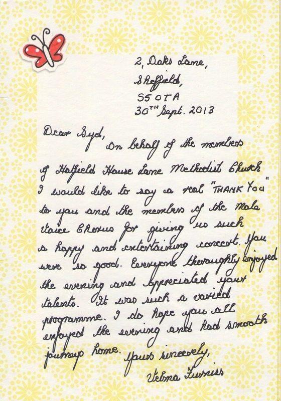 Sheffield Letter