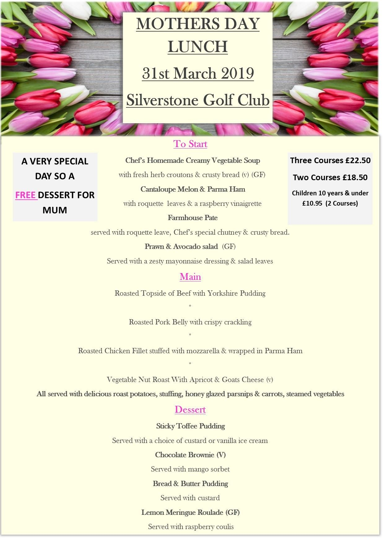 Mothers Day 2019 Silverstone Golf Club 2019