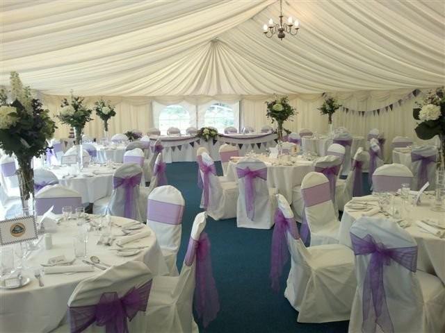 weddings 2013 marquee purple themed