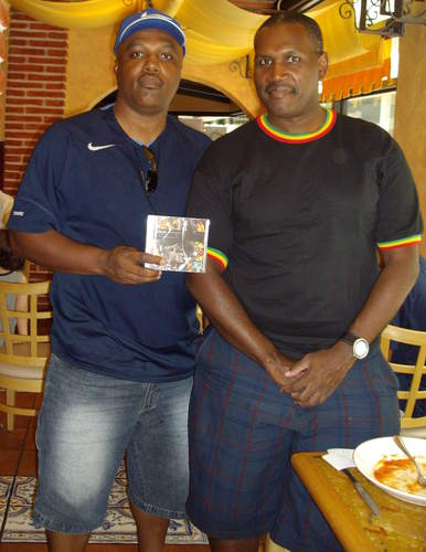 Clinark with Richard Bassette President of Bermuda Song Writers Association