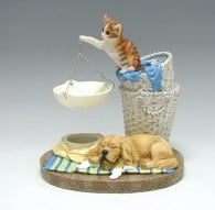 oil burner cat and dog