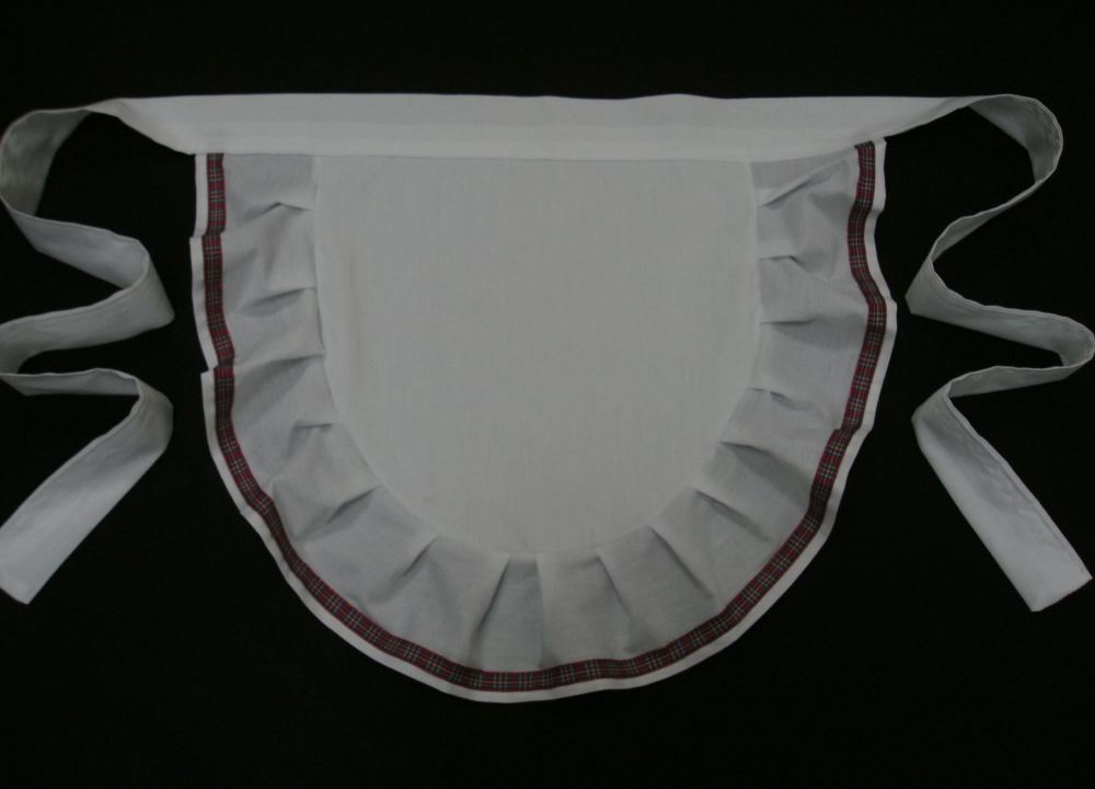<!-- 00021 -->Childrens Frilly Waist Apron Pinny
