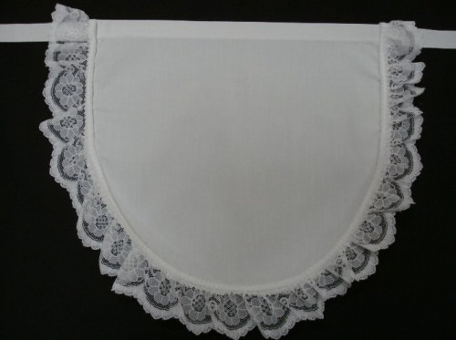 french maid apron pinny lace edge
