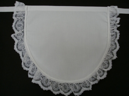 childrens apron pinny lace edge