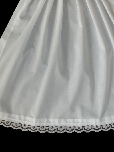 lace edge apron