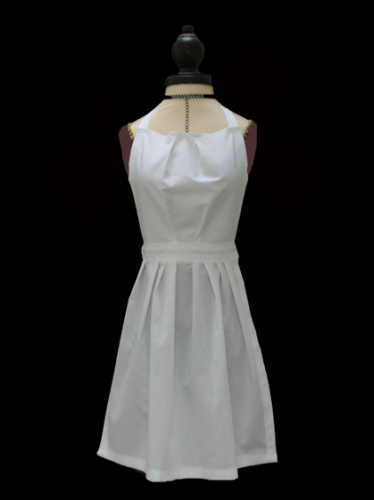 <!-- 00020 -->Childs White Full Length Victorian Apron