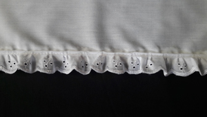white broderie anglaise edge