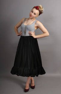 black cotton petticoat lace trim