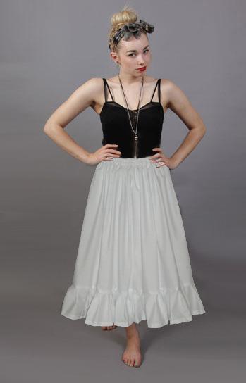 plain white cotton petticoat