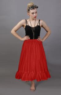 plain red cotton petticoat