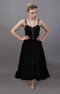 plain black cotton petticoat
