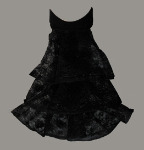 Mens/Boys Black Lace Cravat Jabot Neck Ruffle