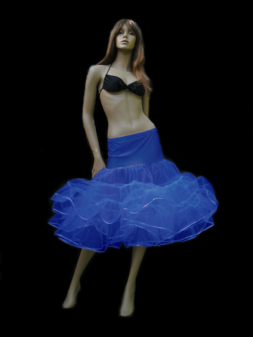 Royal Blue Tiered Net Petticoat