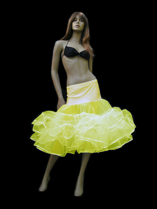 Flo Neon Yellow Tiered Net Petticoat