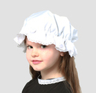 Childs Victorian School Days White Lace Mop Cap