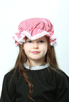 Childs Red Gingham Mop Cap