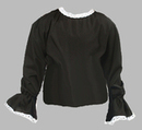 Childs Black Victorian Blouse Top