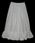 Childrens Cotton Petticoat With Lace Trim