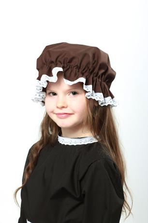Victorian Brown Mop Cap