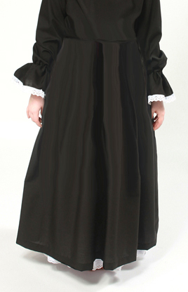 Victorian Full Length Black Skirt