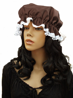 Victorian Mop Cap Brown
