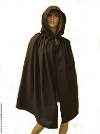 Hooded Fabric Cape/Cloak