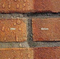 brick after clear wallcoating