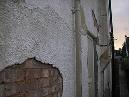 Blown render, cracks