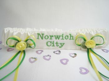 No12 Norwich City Wedding Garter