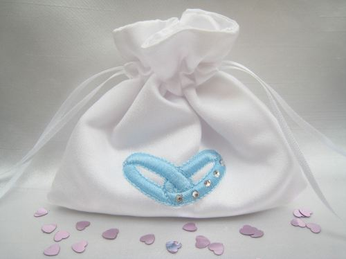 No.2 Wedding Ring Bag Made To Order, Bride & Grooms Ring Bag
