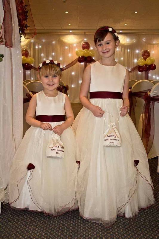 Dolly Bags, Handmade From Satin Fabric & Personalised With Embroidery Thread.