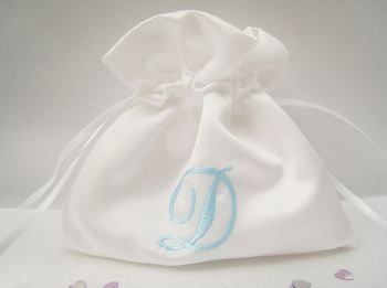No.5 Initials Wedding ring bags ANY COLOUR Embroidery