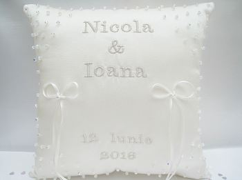 A. Stunning Swarovski Crystal Wedding Ring Cushion ANY COLOUR