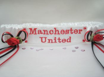 No11 MANCHESTER UNITED Plain Satin Garter