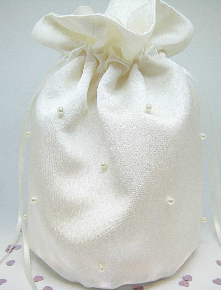 No.7 Bridal Pearl Dolly Bag - £17.99