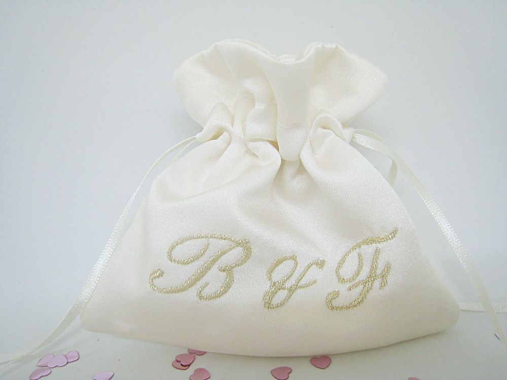 No.2 Initials Wedding Ring Bag
