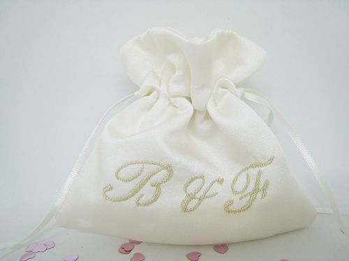 2 Initials Wedding Ring Bag