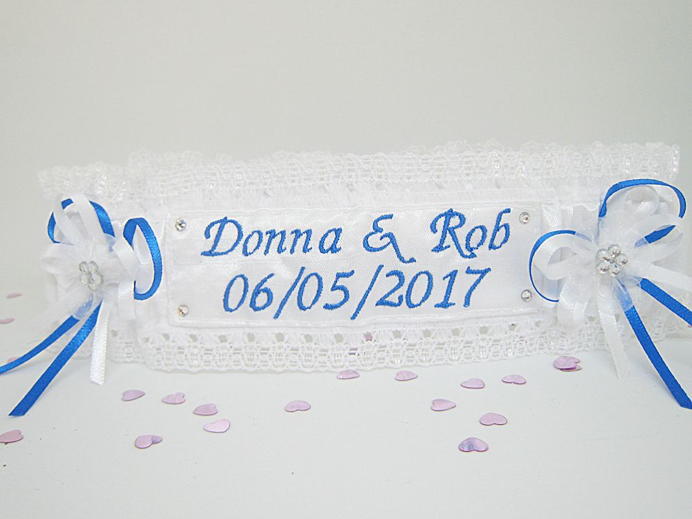 Angie Personalised Wedding Garter £23.99