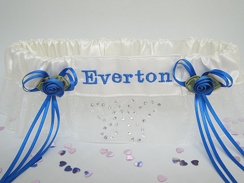 Everton Football Wedding Garters