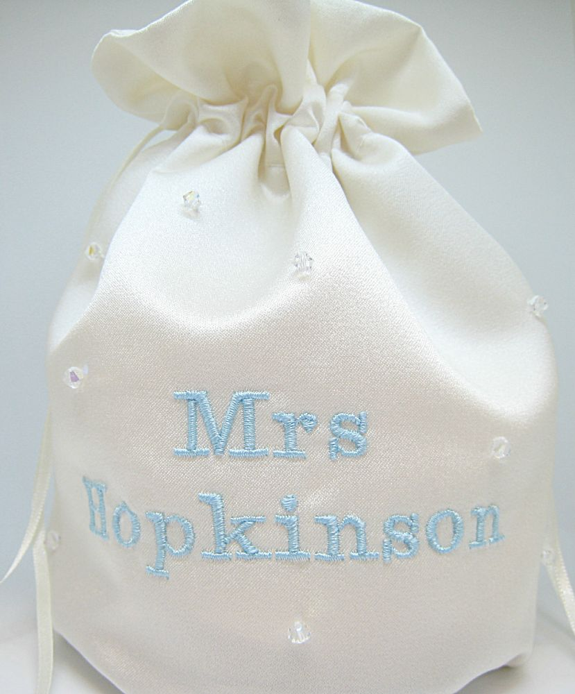 No 1 Personalised Wedding Dolly Bag  £21.99
