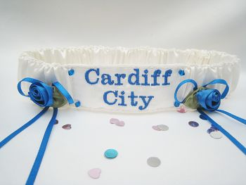 No.6 CARDIFF CITY Wedding Football Garter