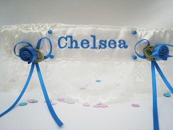 CHELSEA Lace Wedding Football Garter
