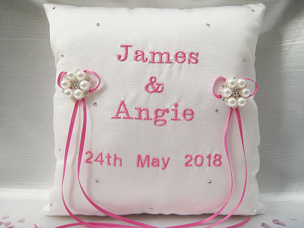 'Jane' Personalised Ring Cushion £31.99